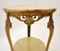 French Style Brass & Onyx Side Table (5 of 6)