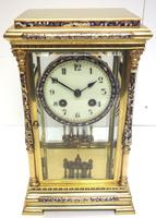 Awesome Antique French Champlevé Ormolu Bronze 8 Day Striking Mantel Clock c.1880 (8 of 13)