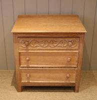 Small Limed Oak Chest of Drawers (3 of 10)