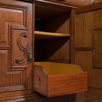 Large Antique Dresser Base, Scottish, Oak, Buffet, Server, Late Victorian, 1880 (12 of 12)