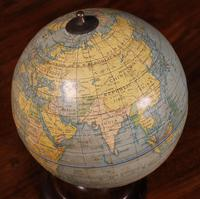 English Globe With Its Wooden Base - Early 20th Century (6 of 7)