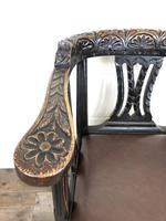 Victorian Carved Oak Gothic Armchair (M-1223) (10 of 12)
