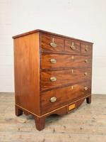 Wide Antique Mahogany Chest of Drawers (10 of 12)