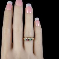 Antique Victorian Dearest Gemstone Ring 18ct Gold Dated 1889 (6 of 7)