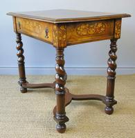 Good Dutch Marquetry Walnut & Kingwood Inlaid Table (10 of 11)