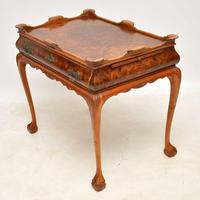 Antique Burr Walnut Tray Top Side Table (5 of 8)
