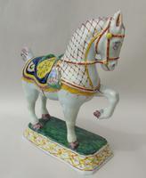Rare Mid 19th Century Dutch Delft Ceremonial Horse (4 of 8)