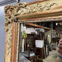 Very Large French Paint & Gilt Mirror (3 of 9)