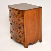 Antique Burr Walnut Bow Front Chest of Drawers (2 of 9)