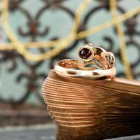 The Antique Victorian Eleven Diamond Tulip Ring (3 of 5)