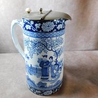 "Booth's ""Ming Pattern"" Silicon China Lidded Jug"