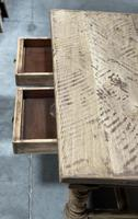 Rustic French Bleached Oak Coffee Table with 2 Drawers (11 of 19)