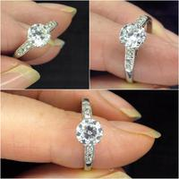 Art Deco Platinum old European cut diamond solitaire engagement ring 0.65ct ~ With appraisal & valuation (6 of 11)