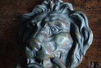Large Antique Mid 19th Century Bronze Lion Mask Door Knocker (4 of 10)