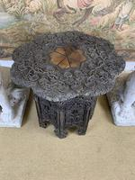 19th Century Indian Carved Occasional Table (5 of 7)