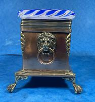 Arts & Crafts Glass and Brass Single Tea Caddy. (10 of 18)