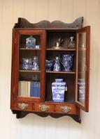 Mahogany Glazed Wall Cabinet (8 of 10)