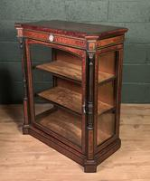 Superb ebonized and amboyna glazed pier cabinet (4 of 8)