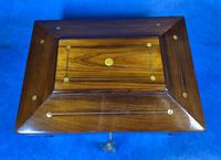 William IV Rosewood Box with Mother of Pearl Inlay (8 of 13)