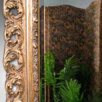 Antique Bevelled Mirror, English, Gilt Gesso, Overmantel, Hall, Victorian, 1900 (9 of 10)