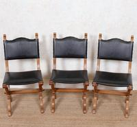 6 Oak Gothic Dining Chairs Carved (13 of 14)