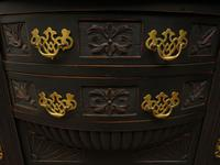 Art Nouveau Black Painted Sideboard, Gothic shabby chic (3 of 16)