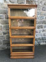 Antique Oak Globe Wernicke Stacking Library Bookcase (2 of 7)