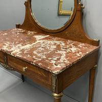 Large French Marble Top Dressing Table (3 of 9)