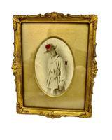 Edwardian Gilt Framed Tinted Photo of Young Girl  Circa 1905