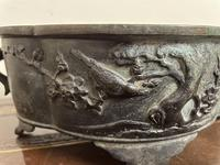 Early 20th Century Japanese Bird Bronze Bowl (4 of 7)