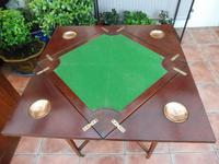 Maple & co Mahogany Inlaid Card Table / Games Table (8 of 14)