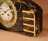 Art Deco Marble Clock Garniture French c.1940 (4 of 9)
