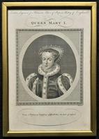 Rare Set of 12 Original 18th Century Engraving's of Kings & Queens of England (9 of 18)