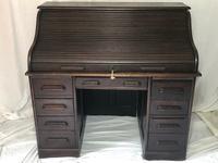 Original Edwardian Globe Wernicke Oak Roll Top Desk (2 of 13)