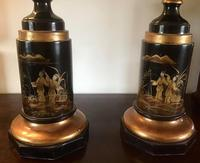 Large Pair  of Japanese Chinoiserie Urns (3 of 8)