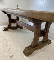 Large French Oak Farmhouse Refectory Dining Table (10 of 10)