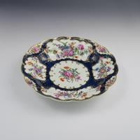First Period Worcester Porcelain Blue Scale Junket Dish c.1770 (4 of 8)