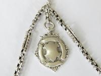 Victorian Silver Double Pocket Watch Chain (2 of 4)