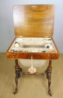 Beautiful Victorian Burr Walnut Sewing Table (7 of 8)
