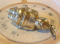 Antique Pocket Watch Chain Fob 1890s Victorian Silver Nickel Policemen Fob (8 of 10)