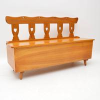Vintage Solid Elm  Alpine Storage Bench (2 of 8)
