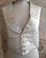 Antique Victorian Ivory Colour Silk Waistcoat (12 of 12)