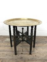 Early 20th Century Middle Eastern Brass Tray Top Folding Table