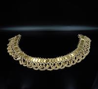 Vintage Aesthetic Gold on Sterling Silver Heavy Fancy Swag Collar Necklace (2 of 7)