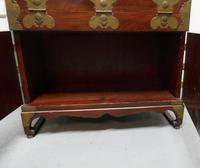Oriental Style Campaign Bureau, Filing Cabinet with Secret Compartment (6 of 9)