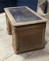 Quality 19th Century French Bleached Pedestal Desk (5 of 25)