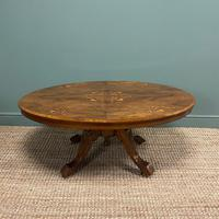 Spectacular Inlaid Walnut Antique Coffee Table (3 of 7)
