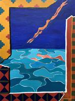 20th Century - British - Contemporary - Abstract Oil Painting of Naked Diver (3 of 11)