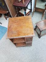 Carved Oak Revolving Bookcase (5 of 8)