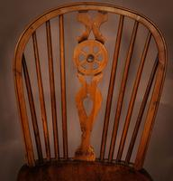 Single Wheel Back Kitchen Windsor Chair in Yew Wood (4 of 6)